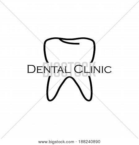 Dental Logo, Black Colored On A White Background