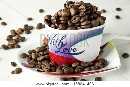 Coffee Still Life On A White Background