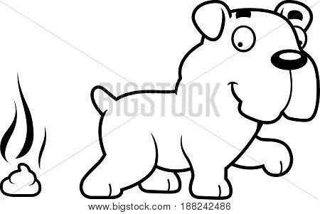 Cartoon Bulldog Poop