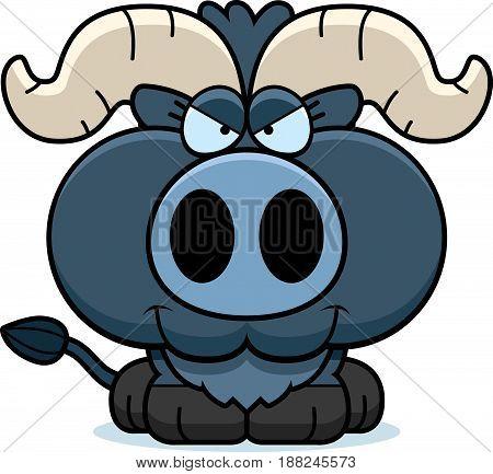 Cartoon Sly Little Blue Ox