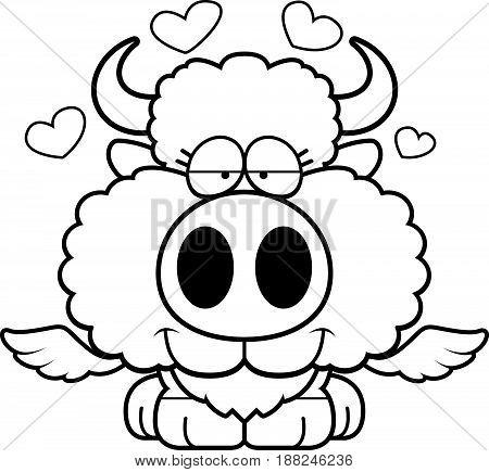 Cartoon Buffalo Wings Love