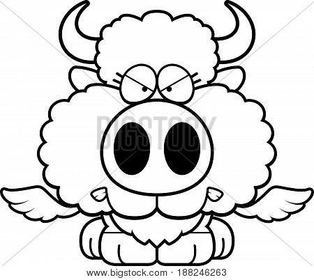 Cartoon Buffalo Wings Angry