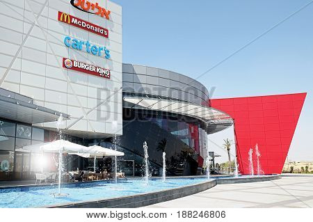 BEER SHEVA ISRAEL - MAY 06 2017: New shopping and entertainment center Planet in Beer Sheva