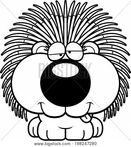 Cartoon Goofy Porcupine