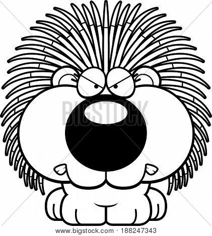 Cartoon Porcupine Angry
