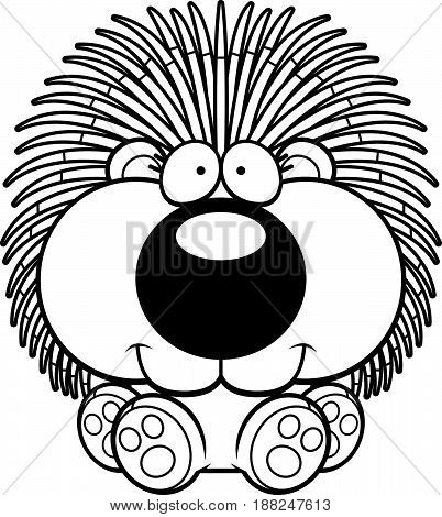 Cartoon Porcupine Sitting