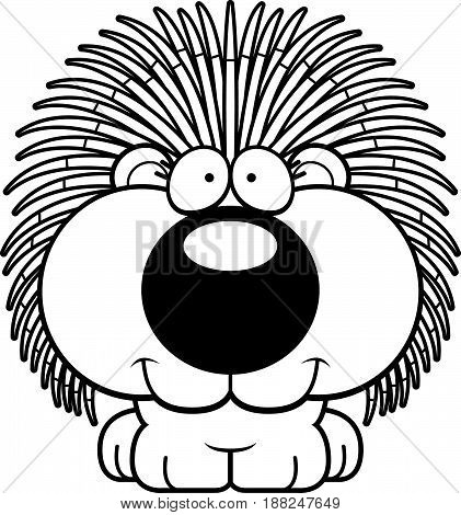Cartoon Porcupine Smiling