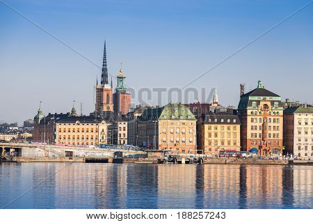 Cityscape Of Gamla Stan City District