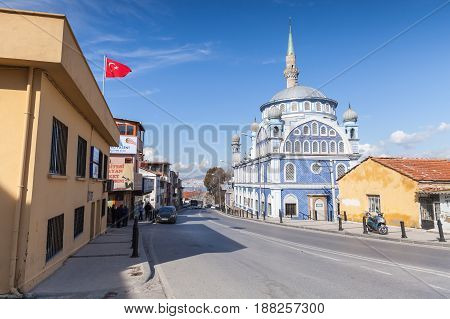 Street Photo With Mosque Fatih Camii