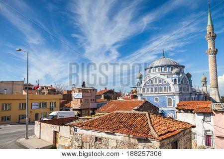 Fatih Camii In Old Part Of Izmir City