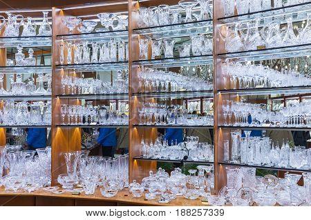 Assortment Of Bohemian Glass