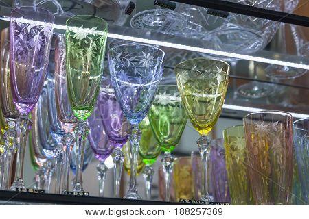 Wineglasses Made Of Bohemian Glass