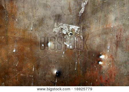 Rusty old metal background