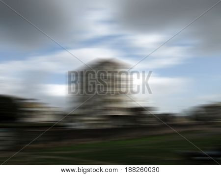 A building shot with motion blur effect.