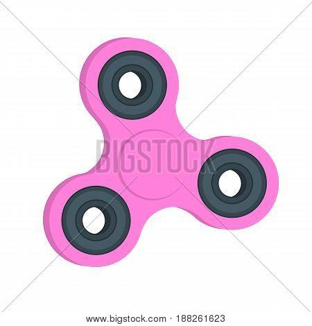 Fidget spinner. Millennial pink hand spinner. Stress relieving spinner toy.