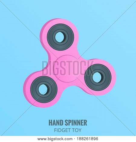 Hand spinner. Millennial pink hand spinner. Stress relieving spinner toy.