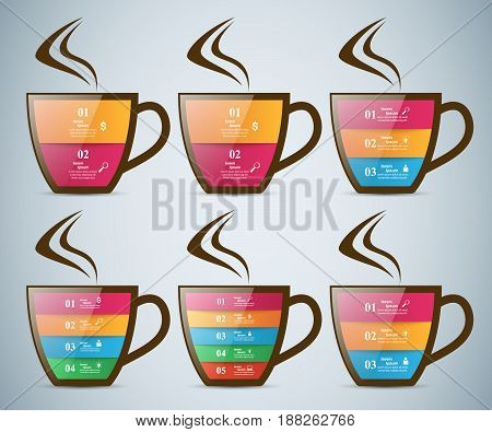 Cup of tea with white reflect. Marketing info.