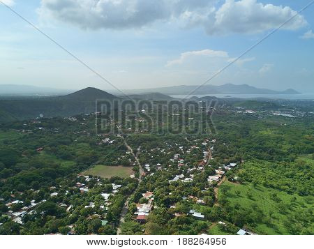 Mountain And Hill Landscape In Managua