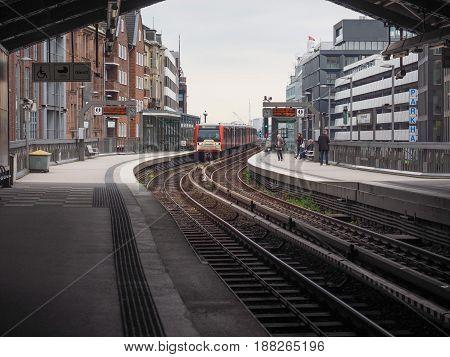 S Bahn (s Train) In Hamburg