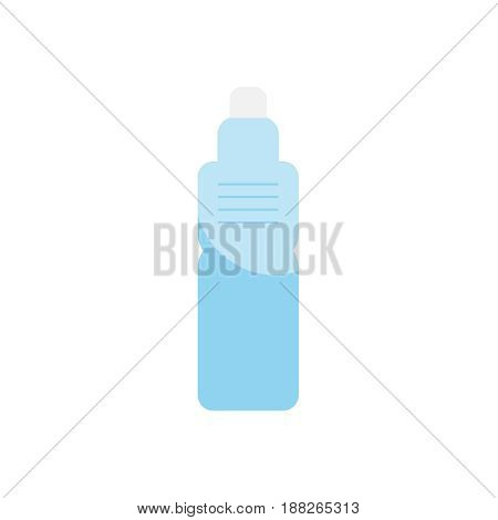 Little boy and girl drinks water vector illustration.