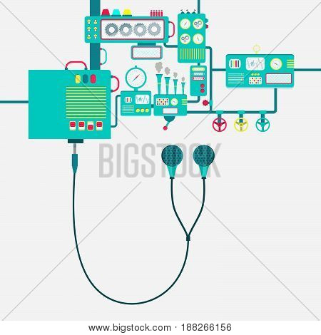 Factory And Earphone