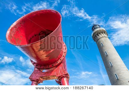 Foghorn of Ardnamurchan Lighthouse, Scotland, United Kingdom