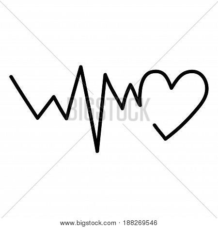 Line of hearts in the form of a logotype on a white background