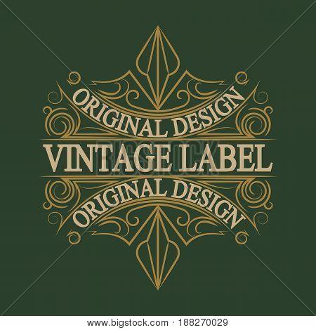 Vintage badge. Logo template. Design elements Vector illustration
