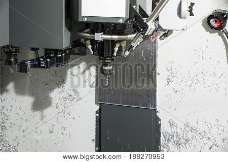 Spindle modern high-precision CNC milling machine. The cartridge is mounted cutter pen.