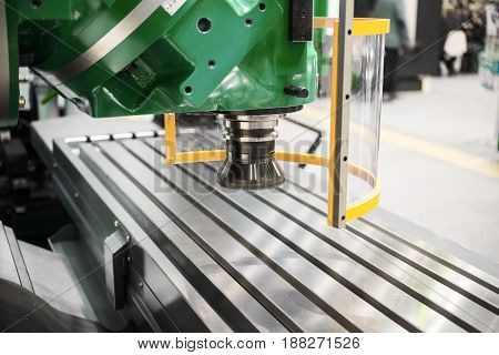 Vertically milling machine, modern equipment for metal cutting.