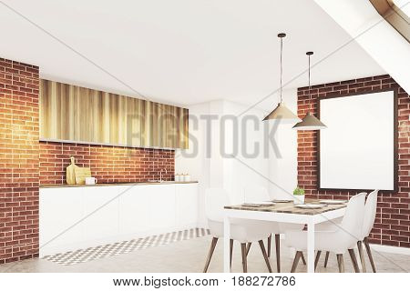 Brick Attic Kitchen, Side