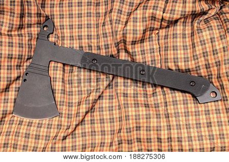 The Weapon For Hand-to-hand Fight. Iron Ax. Black Ax.