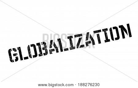 Globalization rubber stamp. Grunge design with dust scratches. Effects can be easily removed for a clean, crisp look. Color is easily changed.
