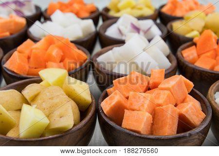 Sweet Potato And Yukon Gold Potato Cubes