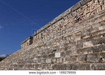 Mayan Governor's Palace in ancient Mayan city Uxmal, Mexico