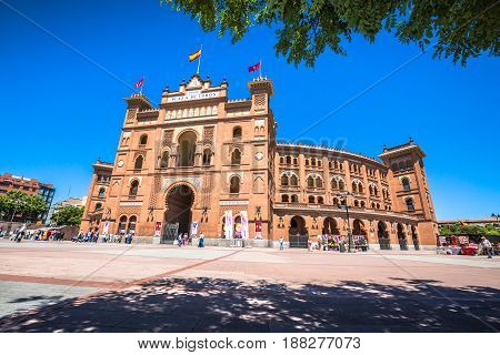 MadridSpain-May 52015: Las Ventas Bullring in Madrid Spain