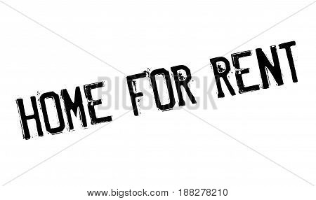 Home For Rent rubber stamp. Grunge design with dust scratches. Effects can be easily removed for a clean, crisp look. Color is easily changed.