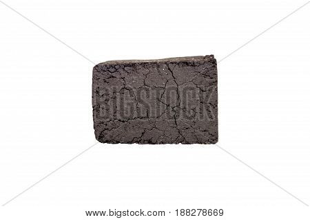 Charcoal Cubes Isolated On White Background