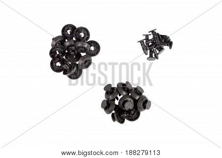 Automotive Clips or Auto Plastic Fasteners. isolated