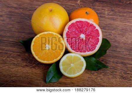 Citrus Fruits Orange, Lemon, Grapefruit, Mandarin, Lime
