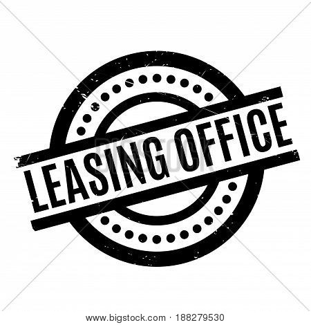 Leasing Office rubber stamp. Grunge design with dust scratches. Effects can be easily removed for a clean, crisp look. Color is easily changed.