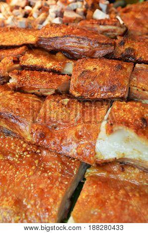Crispy Pork Sold On The Market