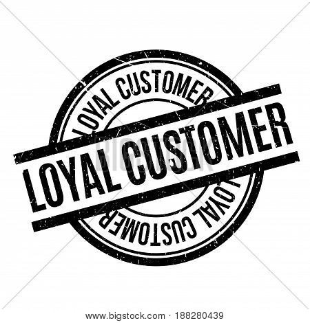 Loyal Customer rubber stamp. Grunge design with dust scratches. Effects can be easily removed for a clean, crisp look. Color is easily changed.