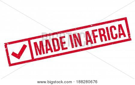 Made In Africa rubber stamp. Grunge design with dust scratches. Effects can be easily removed for a clean, crisp look. Color is easily changed.