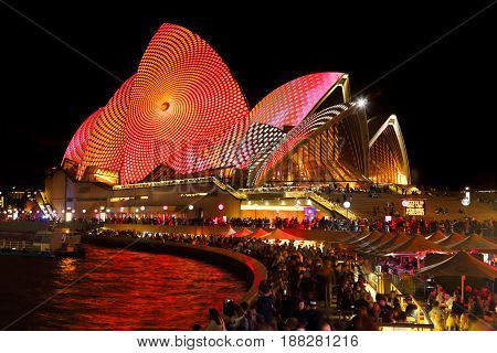 Opening Night Sydney Vivid At Sydney Opera House And Forecourt