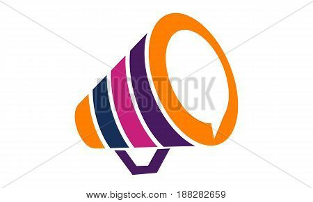 This image describe about Megaphone Logo Template