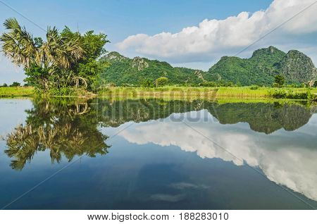 Nature has mountains rivers and countryside for agriculture