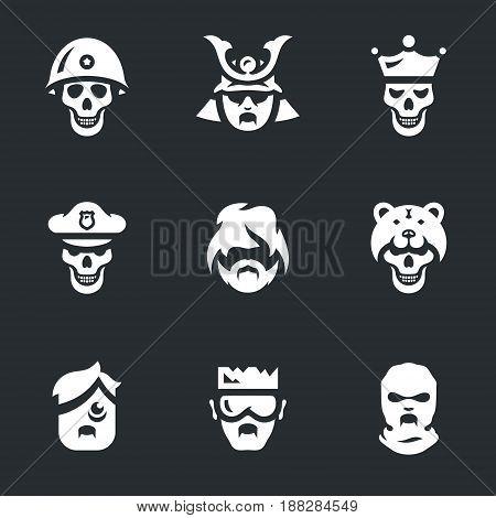 Soldier, samurai, king, policeman, ghoul, viking, sick, biker, maniac.