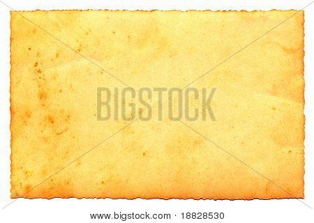 Old paper postcard