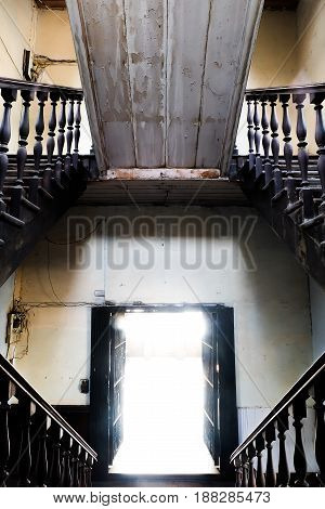 old separate stairs Bang Rak Fire Station bangkok thailand